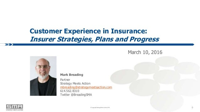 © Copyright Strategy Meets Action 2016© Copyright Strategy Meets Action 2016 Customer Experience in Insurance: Insurer Str...