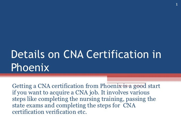 19 Details On Cna Certification In Phoenix