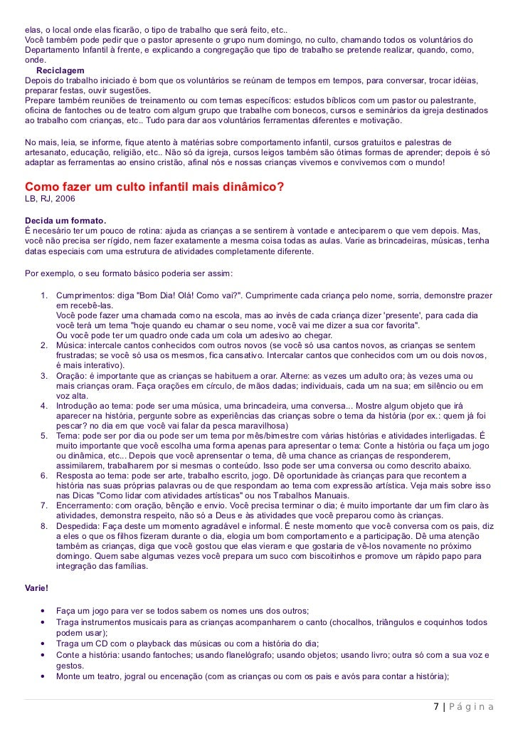 Amado 19 Dicas E Sugestoes Infantil SQ14