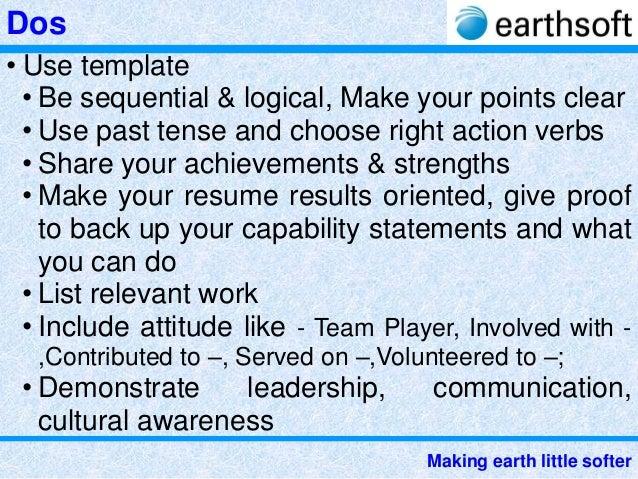 19 earthsoft preparing resume n covering letter
