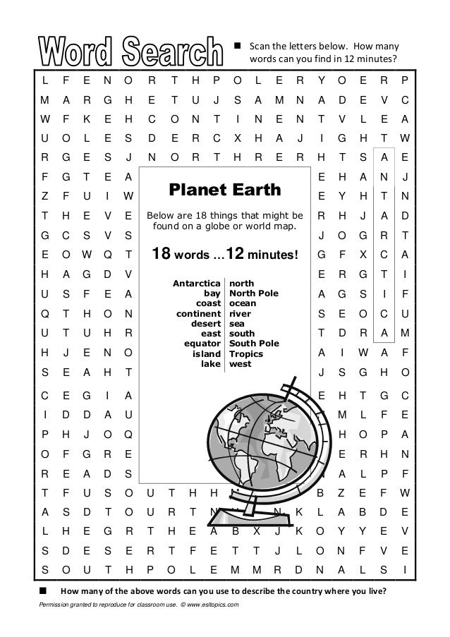 find words from these letters word search planet earth 2553