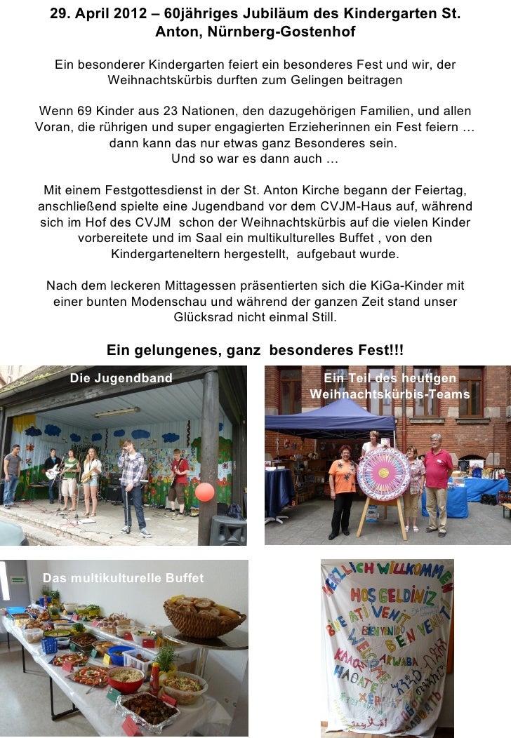 29. April 2012 – 60jähriges Jubiläum des Kindergarten St.                 Anton, Nürnberg-Gostenhof   Ein besonderer Kinde...