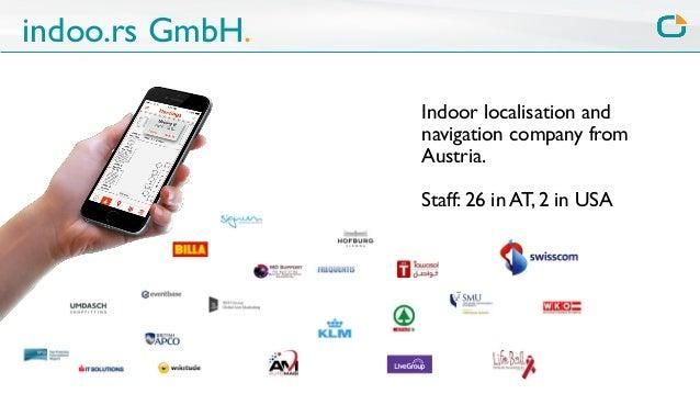 Wherecamp Navigation Conference 2015 - Indoor positioning and navigation for mobile apps Slide 2