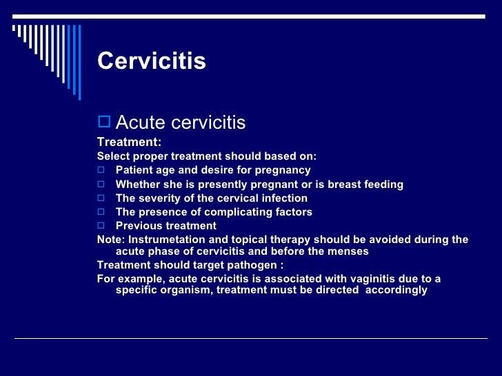 Acute cervicitis