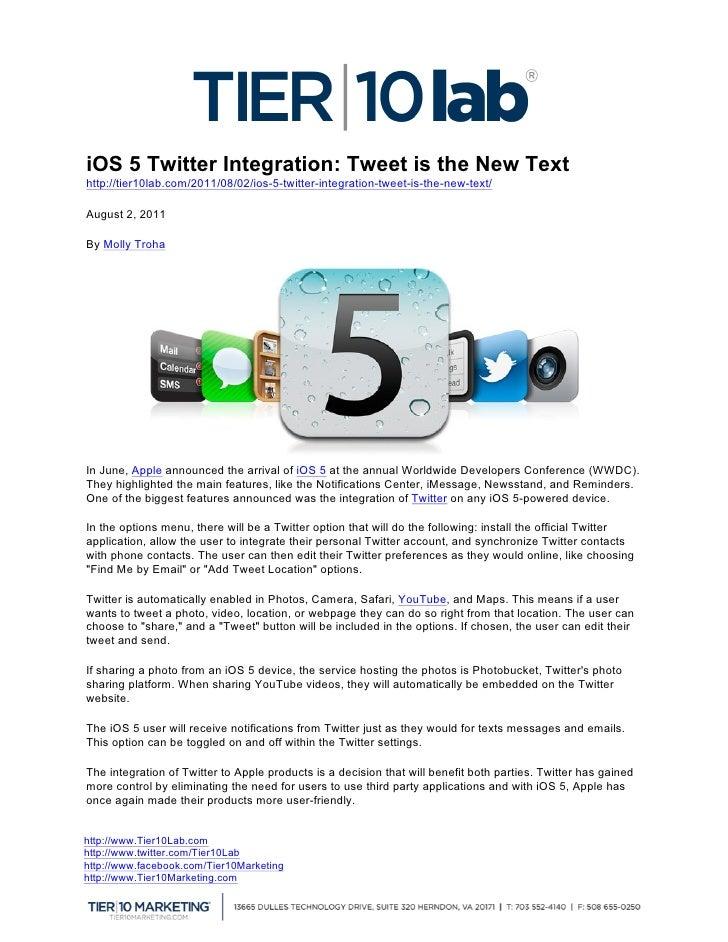 iOS 5 Twitter Integration: T...