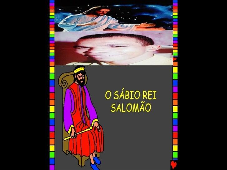 O SÁBIO REI SALOMÃO