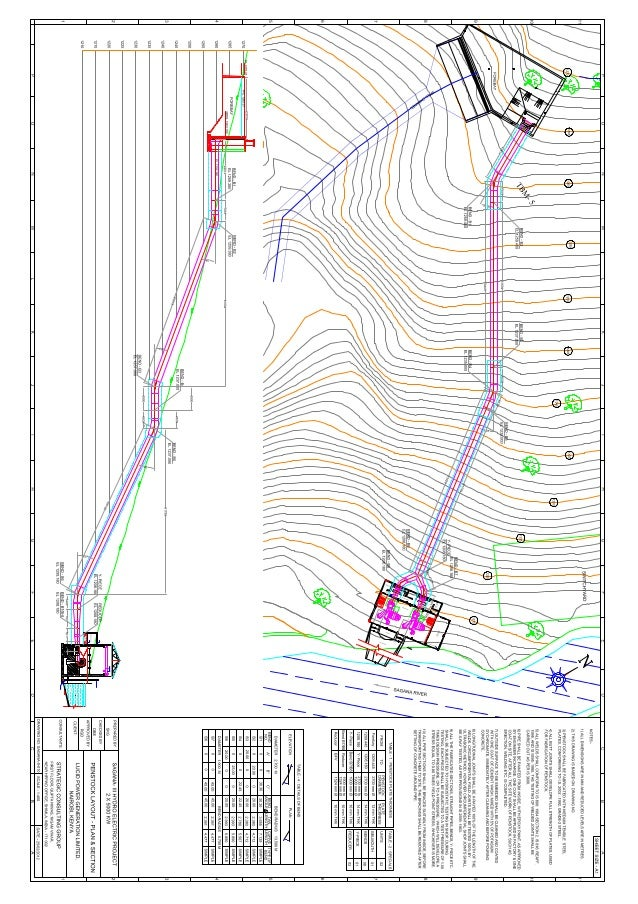 19 plan & section of  penstock
