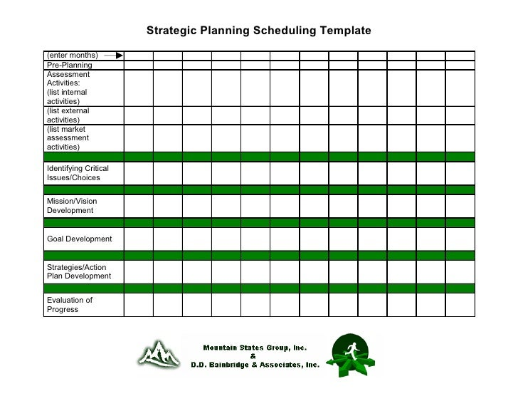 19. Strategic Planning Scheduling Template