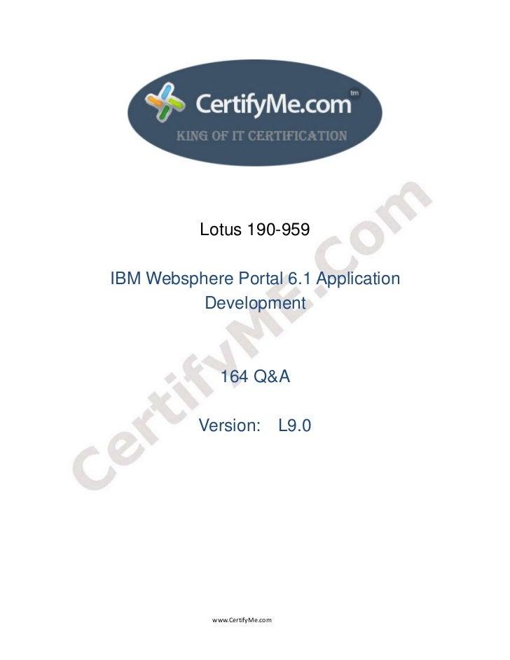 Lotus 190-959                        IBM Websphere ...