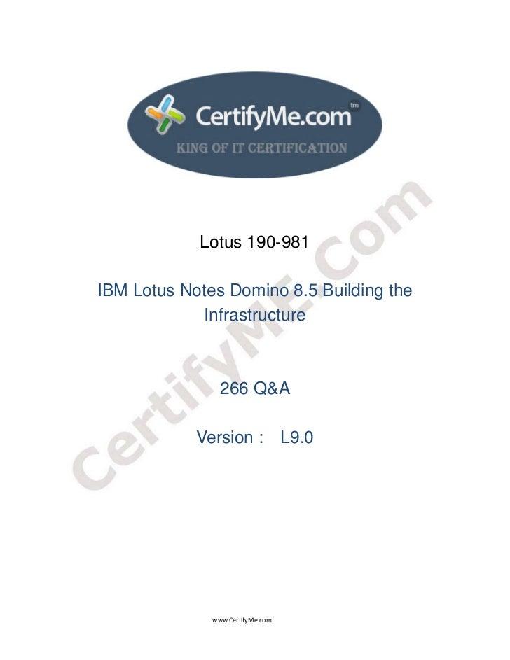 Lotus 190-981                 IBM Lotus Notes Domin...