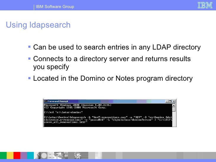 Configuring Domino To Be An Ldap Directory And To Use An Ldap Directo