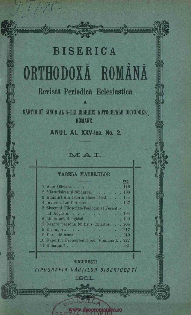 BISERICA ORTHODOXA ROMANA Revista Periodica Eclesiastica A SWUM SINN( AL S-TEI BISERICI AUTOCEFALE ORTODOXE,,, ROME. A NU ...