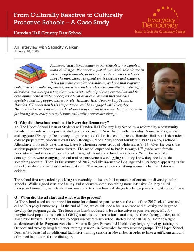 An Interview with Sagacity Walker, January 10, 2019 Achieving educational equity in our schools is not simply a math chall...