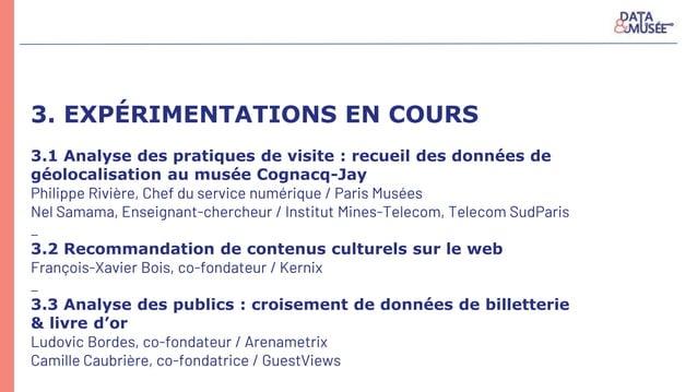 3. EXPÉRIMENTATIONS EN COURS 3.1 Analyse des pratiques de visite : recueil des données de géolocalisation au musée Cognacq...