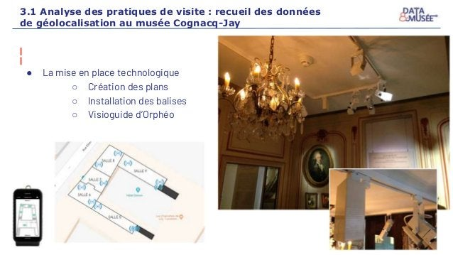 3.1 Analyse des pratiques de visite : recueil des données de géolocalisation au musée Cognacq-Jay ● La mise en place techn...