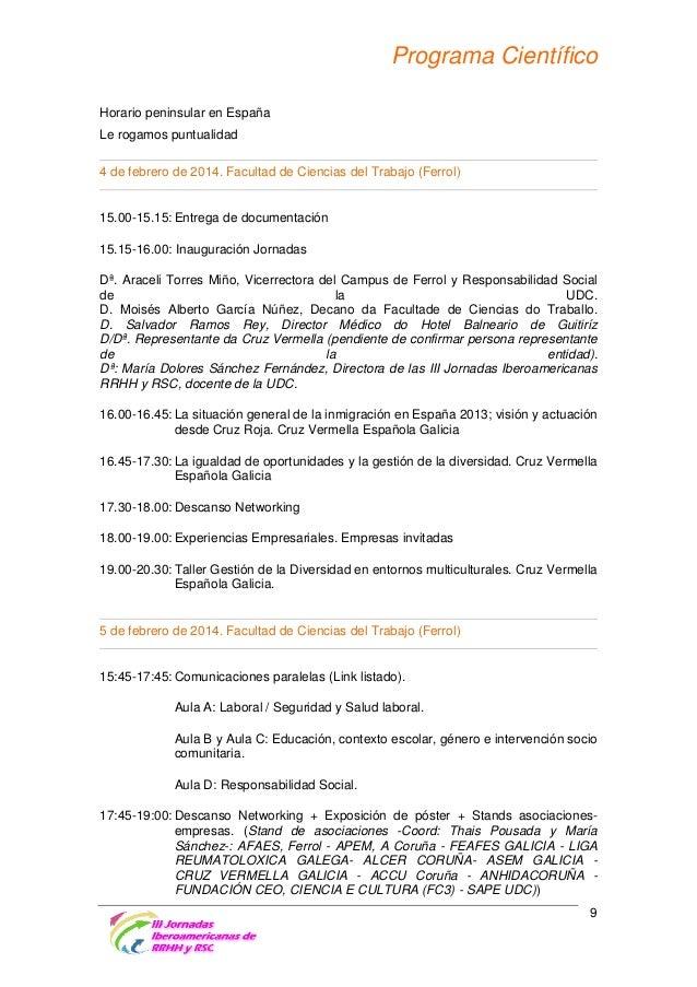 Programa Científico 19:00-19:45: Conferencia 1: En busca de oportunidades en la inserción de personas con enfermedad menta...