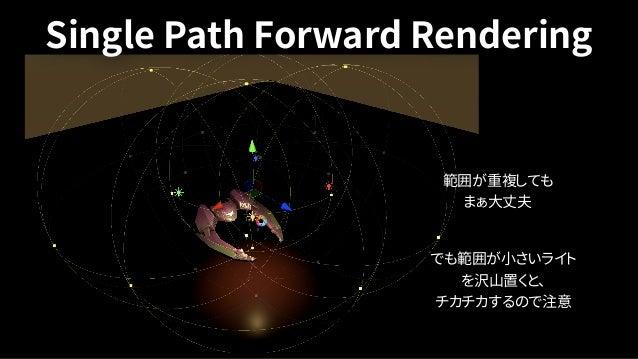 •GIの表現は殆ど今まで通り • Realtime GIは非対応 • Progressive light mapper GPU accelerationは対応 •Mixed Lightは現状 Subtractiveのみ • Unity 20...