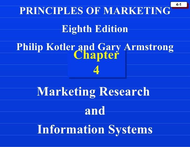 kotler market research Marketing management 12th edition by kotler and keller lecture notes chapter 4: conducting marketing research and forecasting demand defmarketing research is systematic design, collection, analysis, and reporting of data and findings relevant to a.