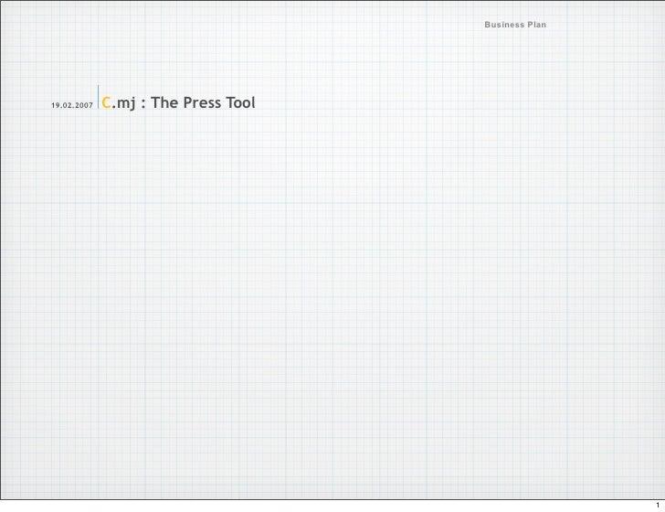 My Newspaper Business Plan