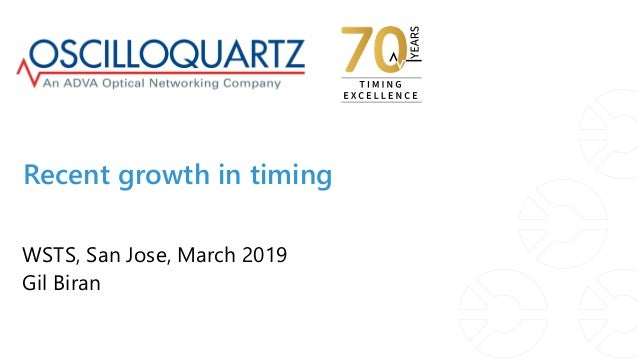 Recent growth in timing WSTS, San Jose, March 2019 Gil Biran