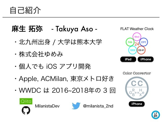 LT 01 - Takuya Aso - FLAT Weather Clock iPad iPhone Color Convertor iPhone