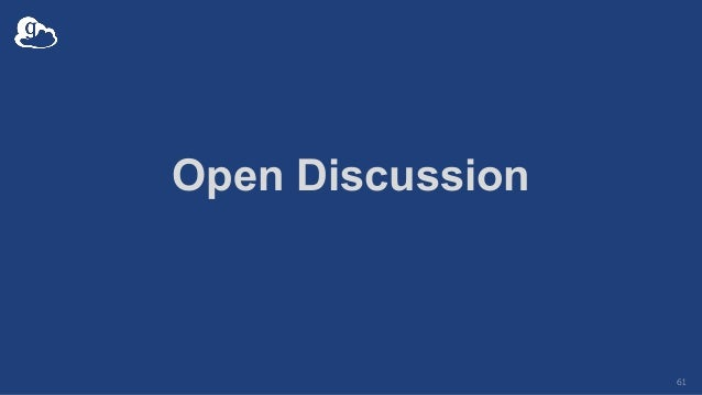 Open Discussion 61
