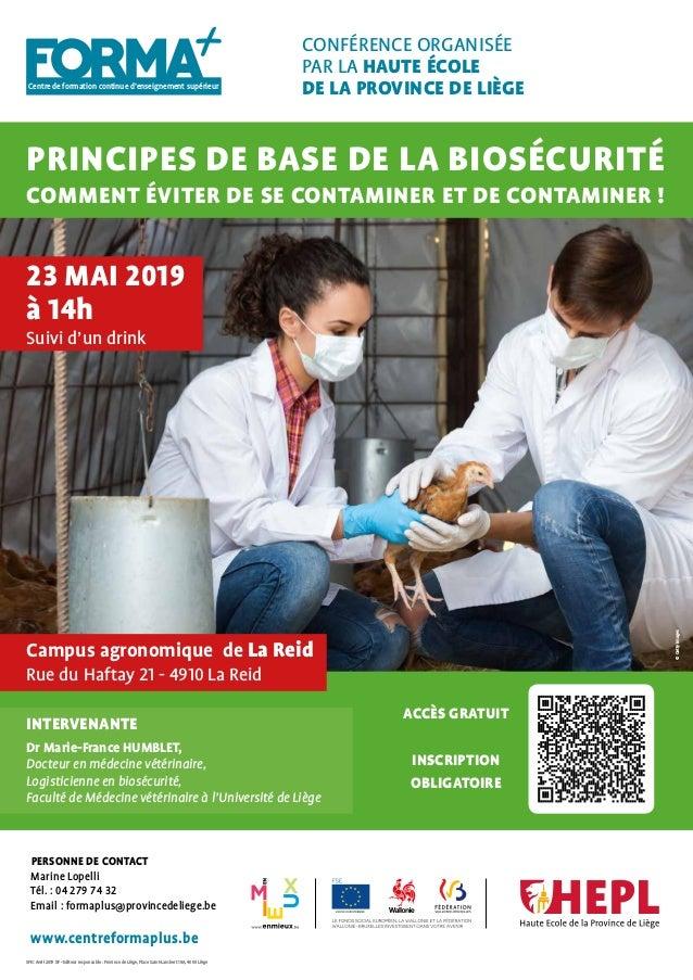 Centre de formation continue d'enseignement supérieur SPIC Avril 2019 XF - Editeur responsable : Province de Liège, Place ...