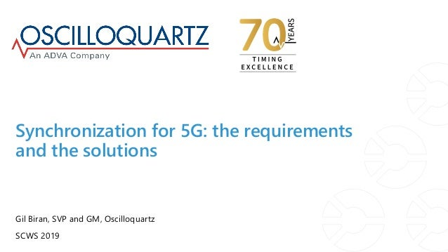 Synchronization for 5G: the requirements and the solutions Gil Biran, SVP and GM, Oscilloquartz SCWS 2019