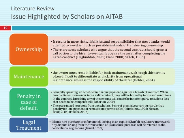 literature review on ijarah