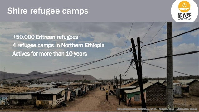 Shire refugee camps +50.000 Eritrean refugees 4 refugee camps in Northern Ethiopia Actives for more than 10 years Humanita...