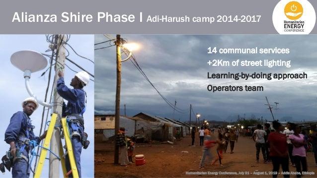 Alianza Shire Phase I Adi-Harush camp 2014-2017 Humanitarian Energy Conference, July 31 – August 1, 2019 – Addis Ababa, Et...