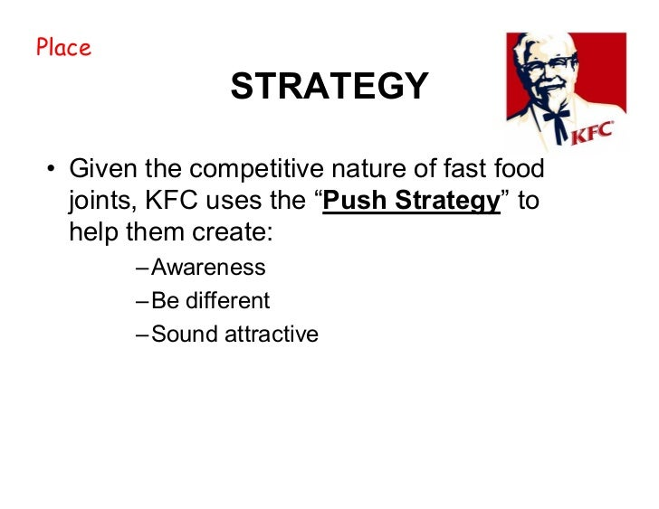marketing mix of kfc We will write a custom essay sample on marketing mix extended on kfc specifically for you for only $1638 $139/page.