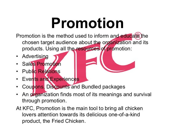 marketing mix kfc in malaysia Marketing analysis – kfc the mode of entry affects a company's entire marketing mix exporting can learn from kfc how to produce a better product at a.