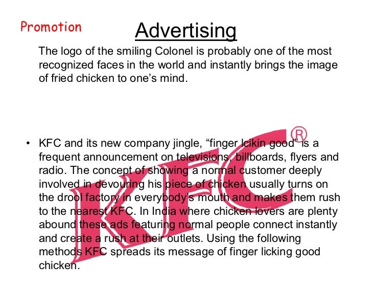 kentucky fried societal marketing Kentucky fried chicken (or kfc) was opened in 1952 by colonel harland sanders he's the face of the brand about one-third of yum brands' total restaurant units are.