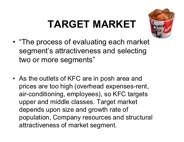 kfc marketing segmentation