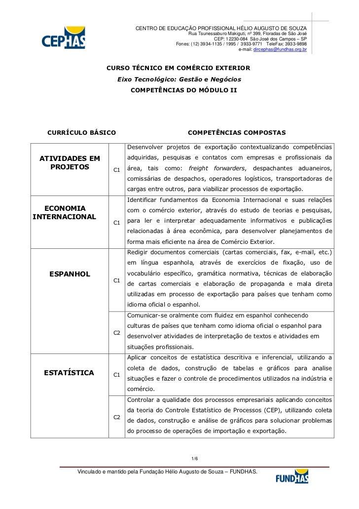 CENTRO DE EDUCAÇÃO PROFISSIONAL HÉLIO AUGUSTO DE SOUZA                                                  Rua Tsunessaburo M...