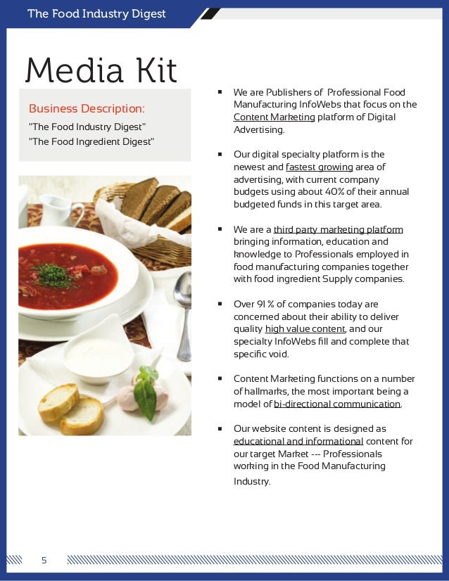 MediaKit The Food Industry Digest