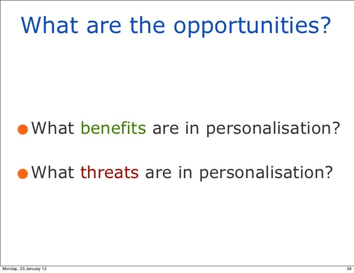 advantages and disadvantages of personalisation