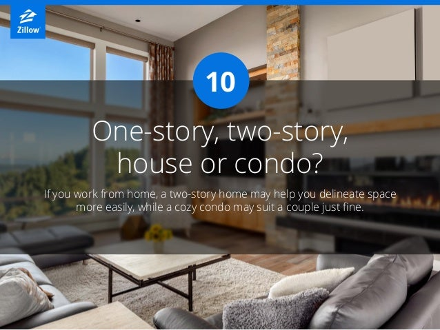 One-story, two-story, house or condo? If you work from home, a two-story home may help you delineate space more easily, wh...