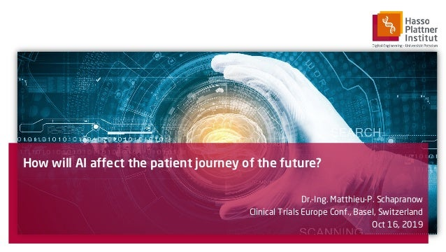 How will AI affect the patient journey of the future? Dr.-Ing. Matthieu-P. Schapranow Clinical Trials Europe Conf., Basel,...
