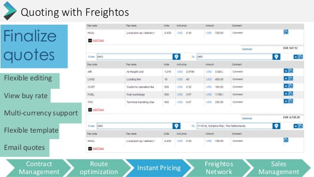 Freightos fast quoting for 3pl rfp template