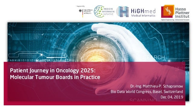 Patient Journey in Oncology 2025: Molecular Tumour Boards in Practice Dr.-Ing. Matthieu-P. Schapranow Bio Data World Congr...