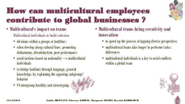 potential problems when using multicultural diverse Answer to what are some potential problems that must be overcome when using multicultural, diverse team in today's organizations.