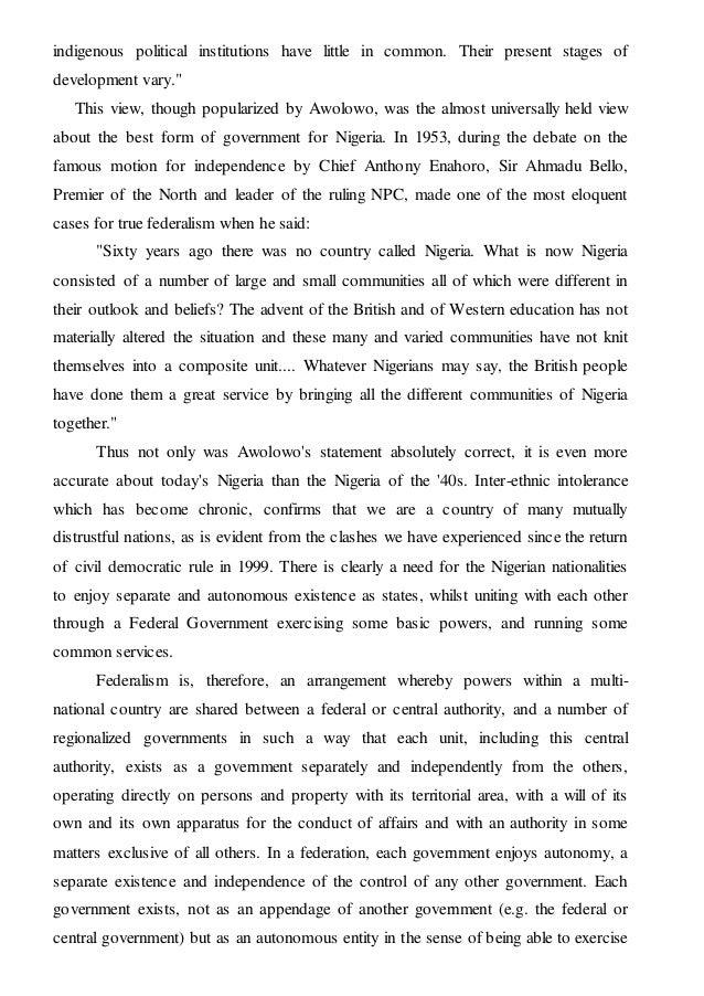 nigerian history timeline