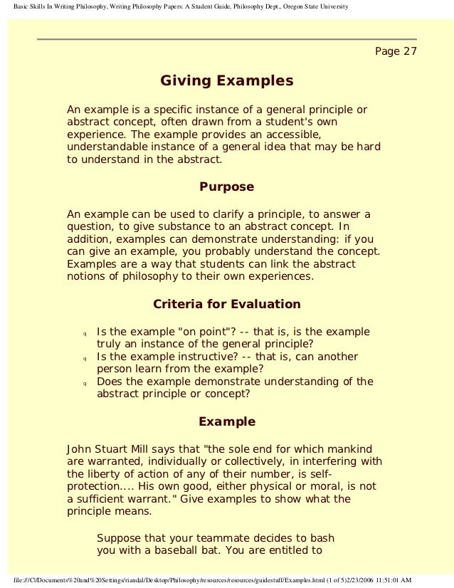 giving examples in writing