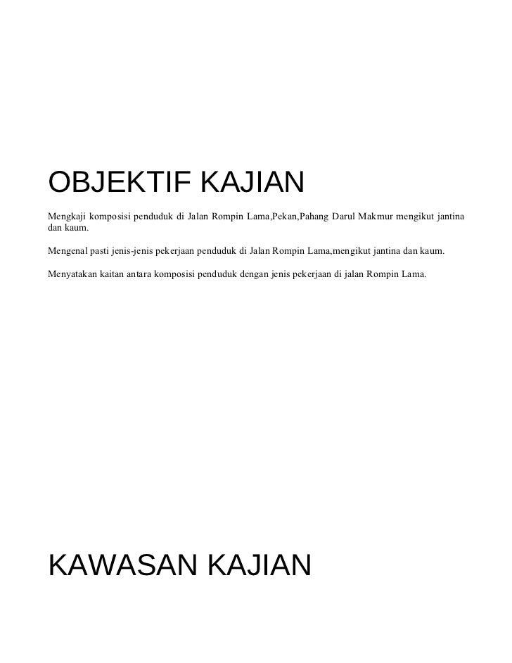 Contoh Folio Objektif Kajian Terbaru 10