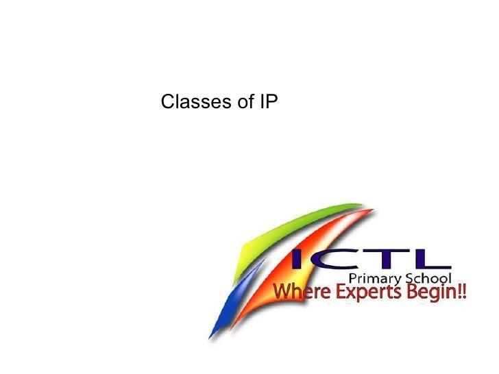 IP Classes of IP