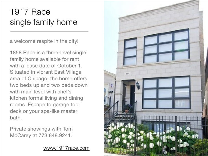 1917 Race single family home  a welcome respite in the city!  1858 Race is a three-level single family home available for ...