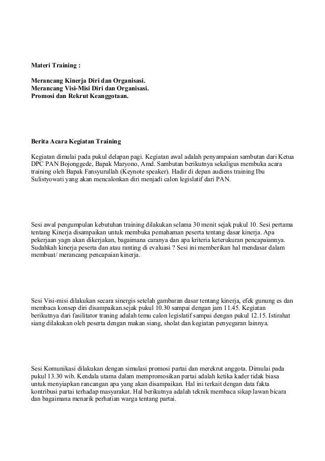 Contoh Berita Acara Kegiatan Pelatihan Foundrylinoa