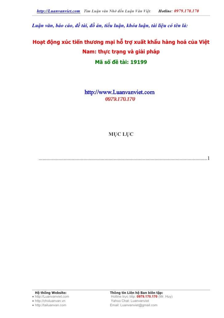 http://Luanvanviet.com Tìm Luận văn Nhớ đến Luận Văn Việt.                                 Hotline: 0979.170.170   Luận vă...